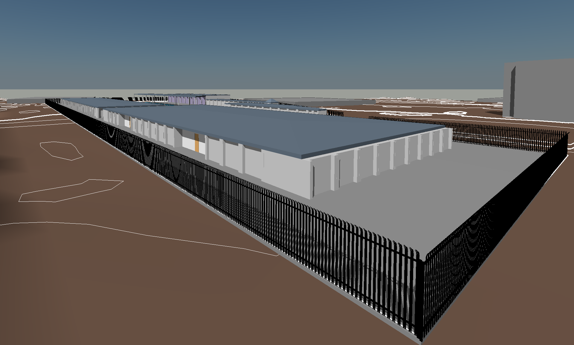 Storage Unit Facility Design in Revit