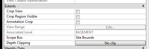 Remove crop regions in your Revit views first