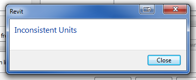 Inconsistent Units in a Revit Schedule