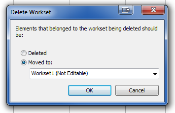 Deleting a workset in Revit and moving elements to Workset1