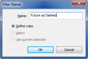 Defining rule for Revit future filter phase