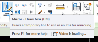Use the Mirror Draw Axis command to Rotate complex connected elements in Revit