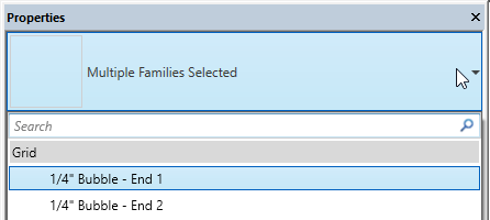 Change a family type in Revit.