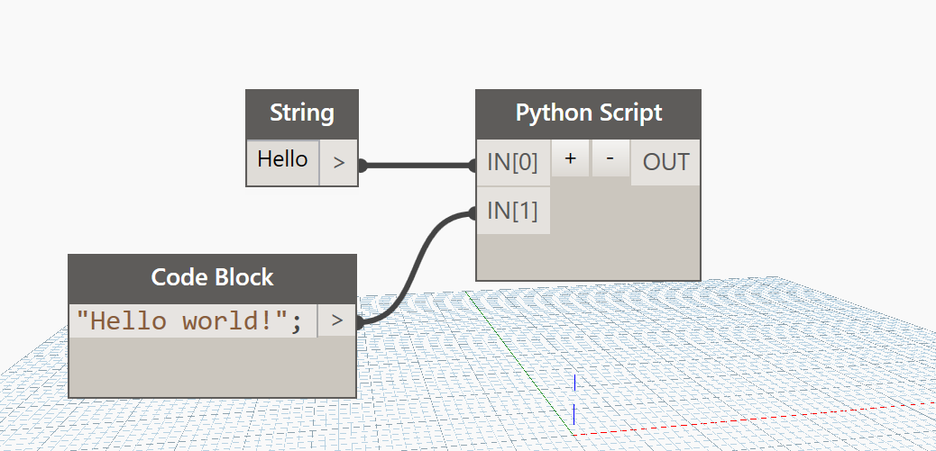 Hello world graph dyn in Dynamo BIM and Revit using Python