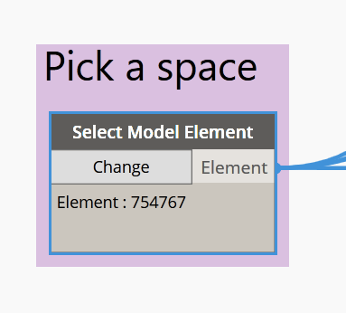 Pick a space in Revit to push to COBie data